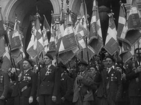 Premier anniversaire de la Légion Française le 31 août 1941 à Saint-Étienne | Légion française des combattants